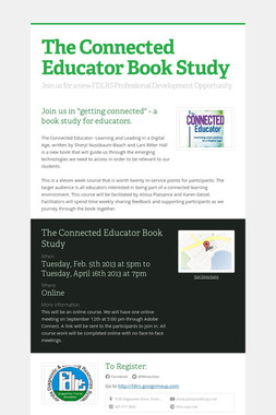 The Connected Educator Book Study