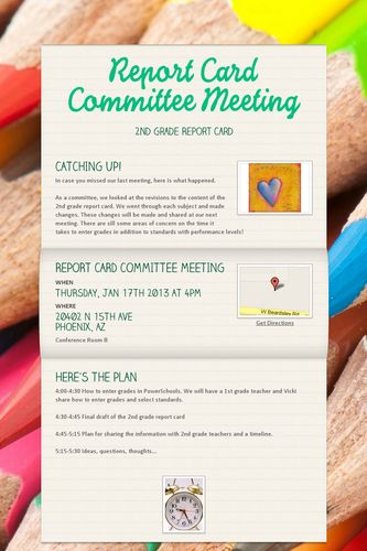 Report Card Committee Meeting