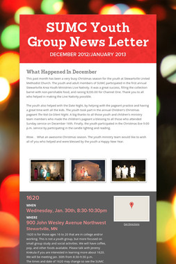 SUMC Youth Group News Letter