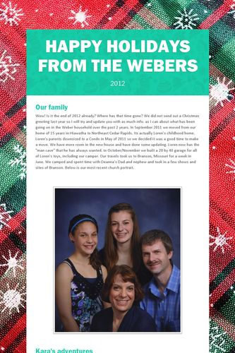 Happy Holidays from the Webers