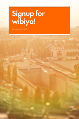 Signup for wibiya!