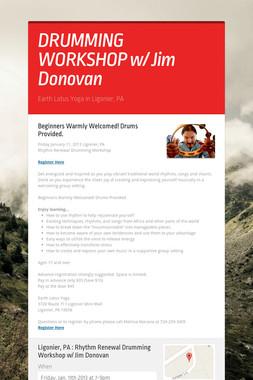 DRUMMING WORKSHOP w/ Jim Donovan