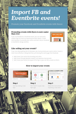 Import FB and Eventbrite events!