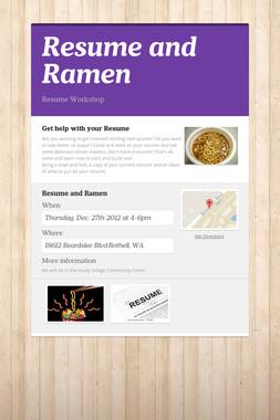 Resume and Ramen