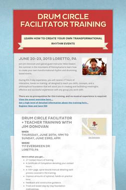 Drum Circle Facilitator Training