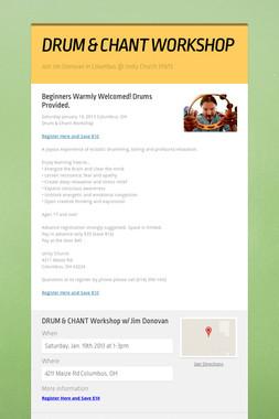 DRUM & CHANT WORKSHOP