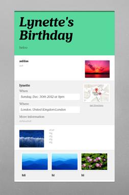 Lynette's Birthday