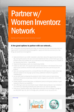 Partner w/ Women Inventorz Network