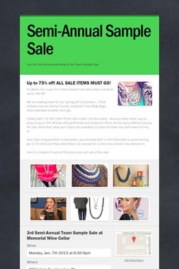 Semi-Annual Sample Sale