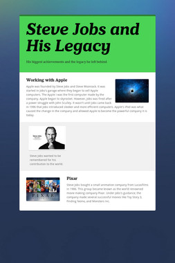 Steve Jobs and His Legacy