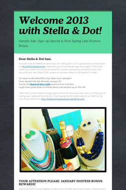 Welcome 2013 with Stella & Dot!