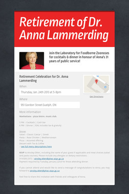 Retirement of Dr. Anna Lammerding
