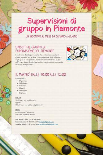 Supervisioni di gruppo in Piemonte