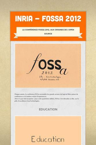 Inria - fOSSa 2012