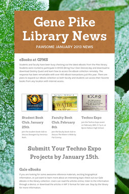 Gene Pike Library News