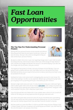 Fast Loan Opportunities
