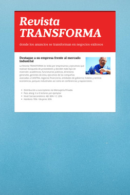 Revista TRANSFORMA