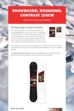 Snowboard, Rossignol Contrast 155cm