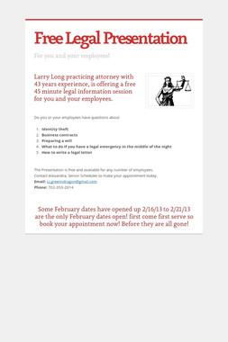 Free Legal Presentation