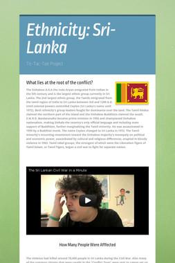 Ethnicity: Sri-Lanka
