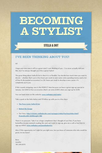Becoming a Stylist