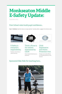 Monkseaton Middle E-Safety Update: