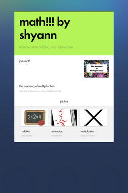 math!!!   by shyann