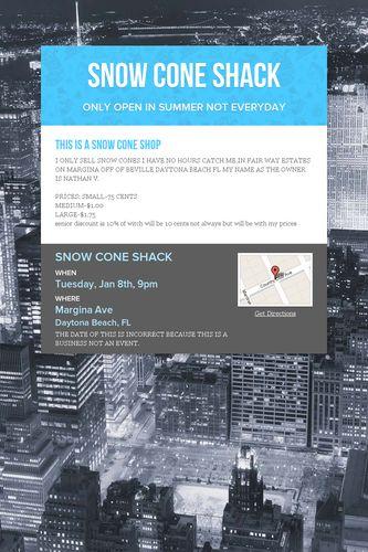 SNOW CONE SHACK