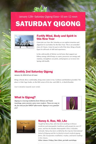 Saturday Qigong