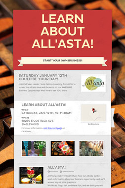 Learn about All'asta!