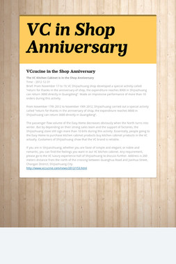VC in Shop Anniversary