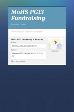 MoHS PG13 Fundraising