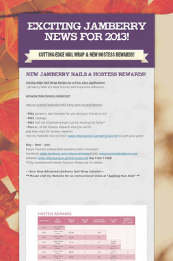 Exciting Jamberry News for 2013!