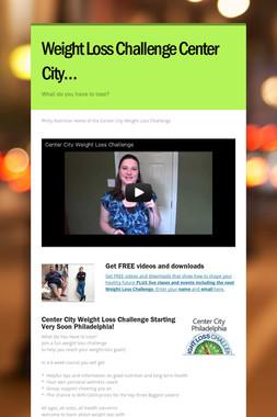 Weight Loss Challenge Center City…
