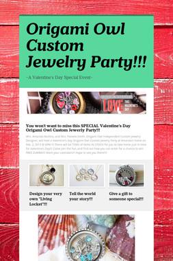 Origami Owl Custom Jewelry Party!!!