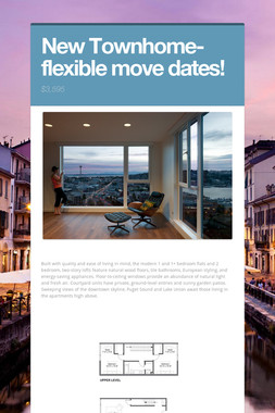 New Townhome-flexible move dates!