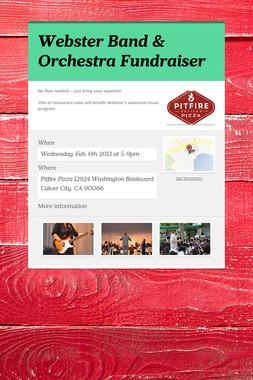Webster Band & Orchestra Fundraiser