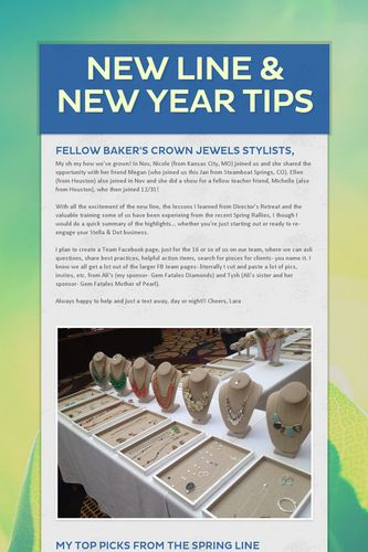 New Line & New Year Tips