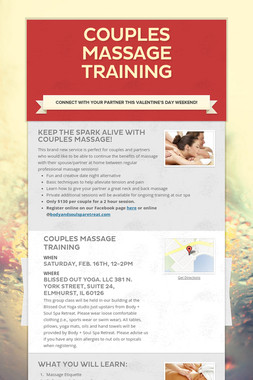 Couples Massage Training