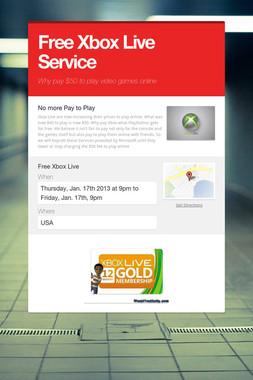 Free Xbox Live Service