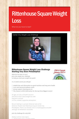 Rittenhouse Square Weight Loss