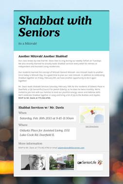 Shabbat with Seniors