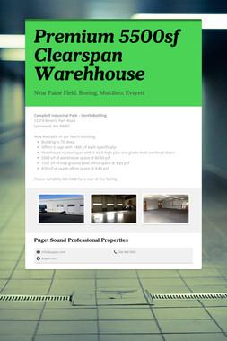 Premium 5500sf Clearspan Warehhouse