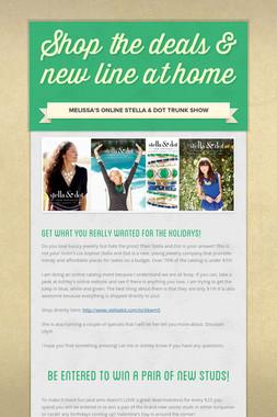 Shop the deals & new line at home