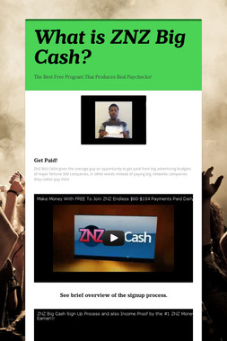 What is ZNZ Big Cash?