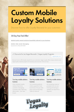 Custom Mobile Loyalty Solutions