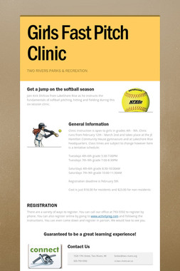Girls Fast Pitch Clinic
