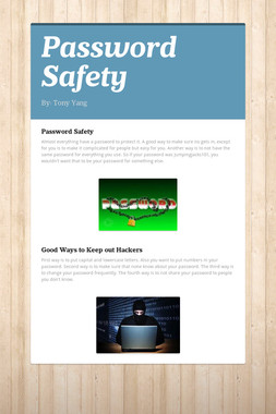 Password Safety