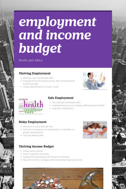 employment and income budget