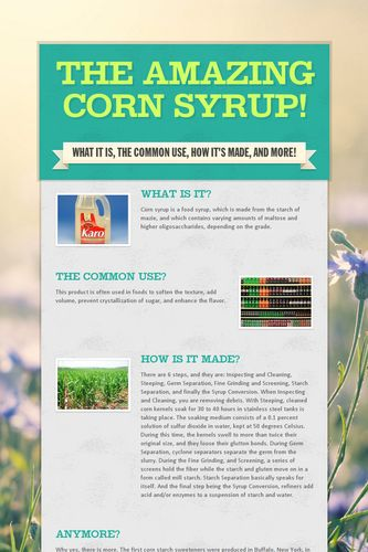 The Amazing Corn Syrup!